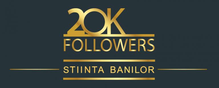 20,000 de membri ai comunitatii StiintaBanilor